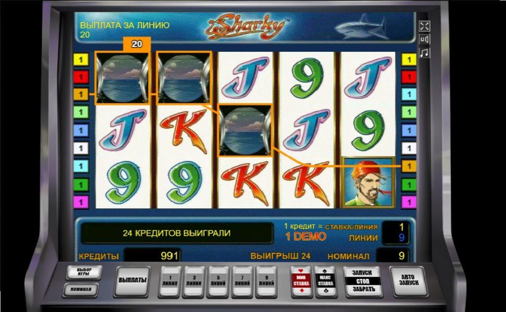 Описание к игровому автомату Sharky для игроков с Украины